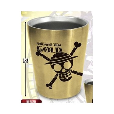 One Piece Film Gold Double Stainless Steel Tumbler Jolly Roger