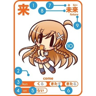 Japanese Learning Cards - Moekanji