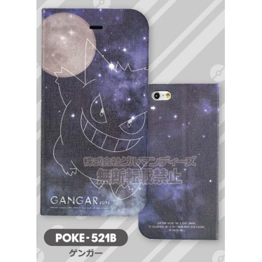 """Pokemon"" iPhone6 Flip Case Magnet Type Gangar POKE- 521B"